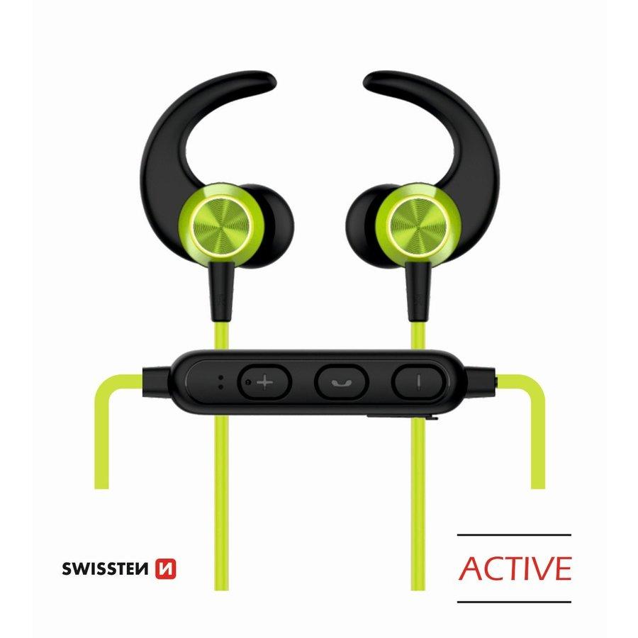 Swissten Bluetooth Oordopjes Active Limoen-1