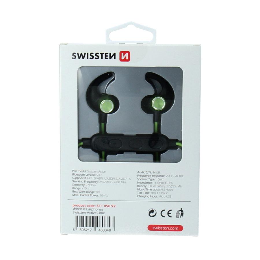 Swissten Bluetooth Oordopjes Active Limoen-2
