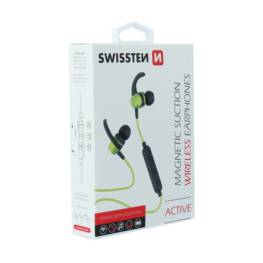 Swissten Bluetooth Oordopjes Active Limoen-5