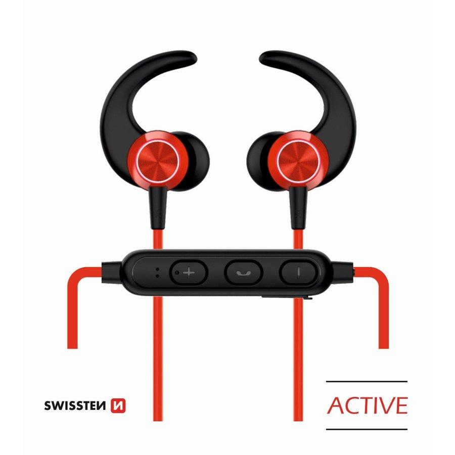 Swissten Bluetooth Oordopjes Active Rood-1