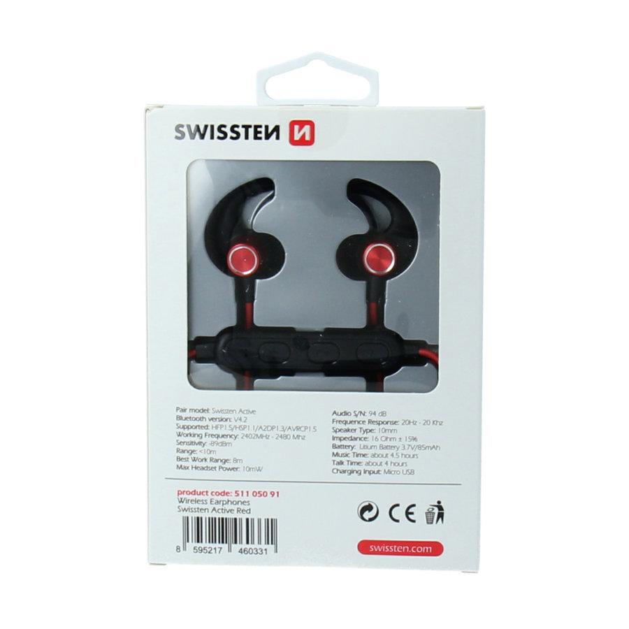 Swissten Bluetooth Oordopjes Active Rood-3