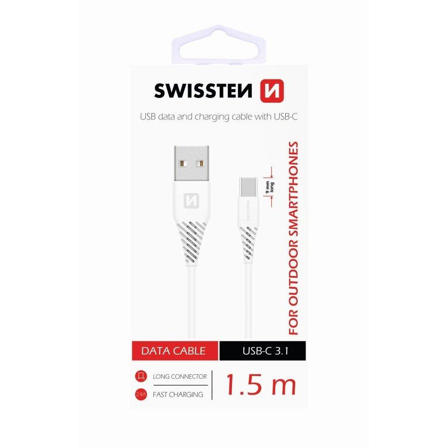 Swissten USB-C naar USB Kabel 1,5 Meter Wit-2