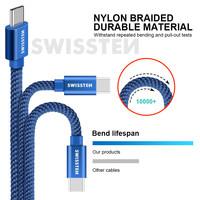 thumb-Swissten USB-C naar USB Kabel 2 Meter Blauw-3