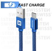 USB-C naar USB Kabel 2 Meter Blauw