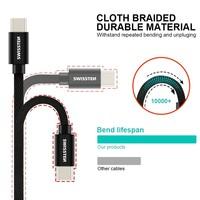 thumb-Swissten USB-C naar USB Kabel 2 Meter Zilver-3