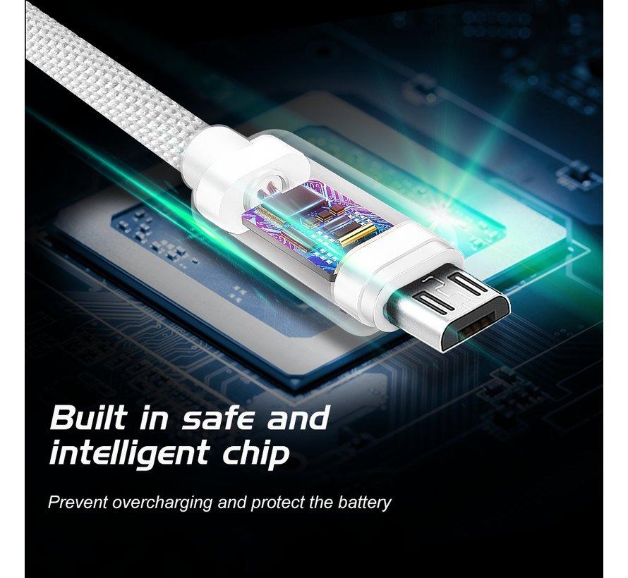 Swissten Micro USB naar USB Kabel 2 Meter Zilver