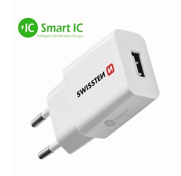 Swissten Thuislader Smart IC USB 2,1A Wit