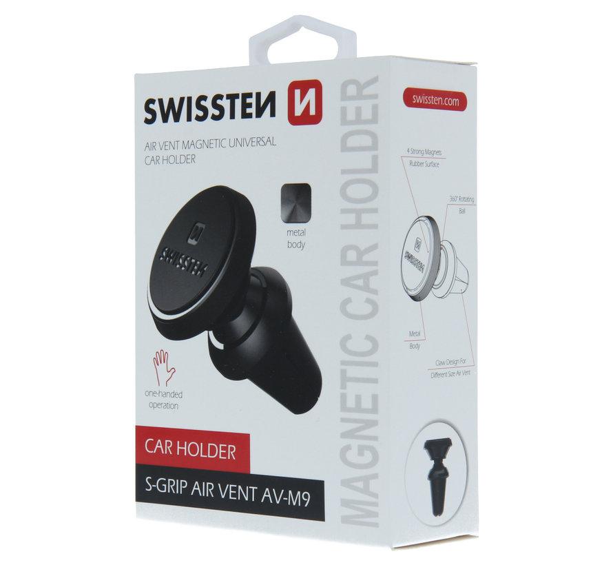 Swissten Telefoonhouder Auto Magneet Ventilatierooster AV-M9 Zwart
