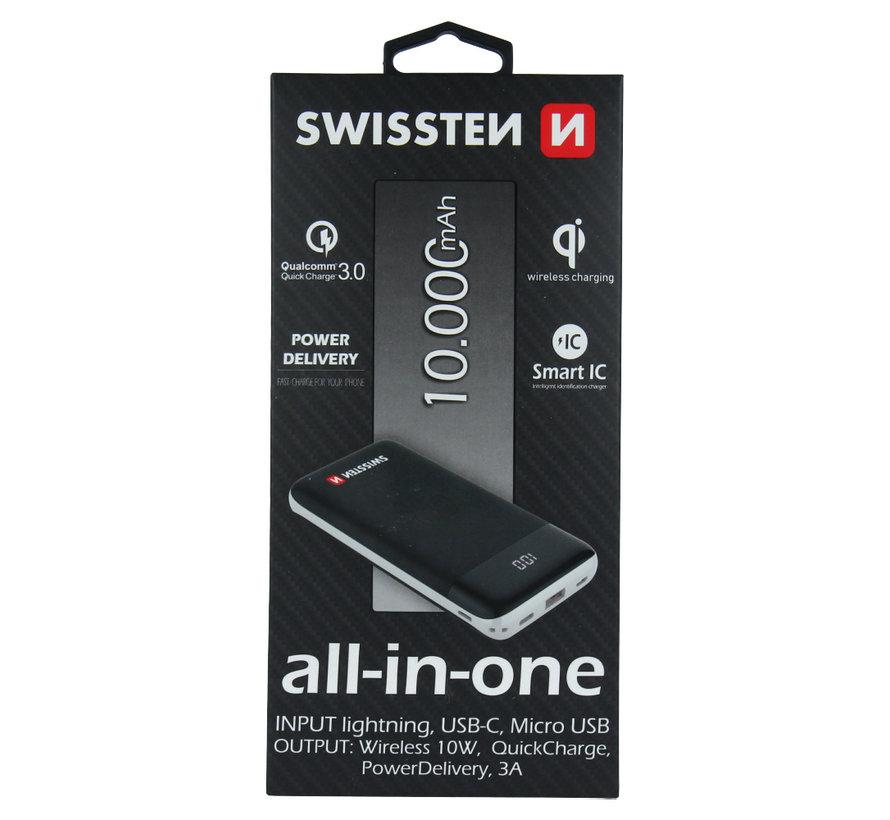 Swissten ALL-IN-ONE Powerbank 10.000mAh