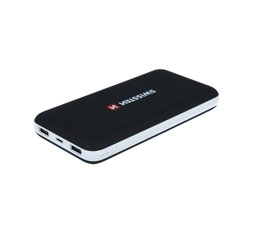 Swissten Black Core Slim Powerbank 15.000 mAh USB-C Input