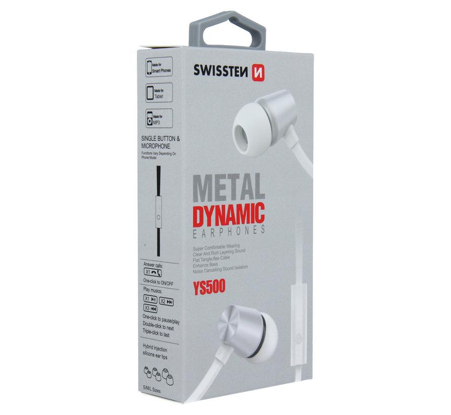 Swissten Headset Dynamic YS500 Zilver/Wit