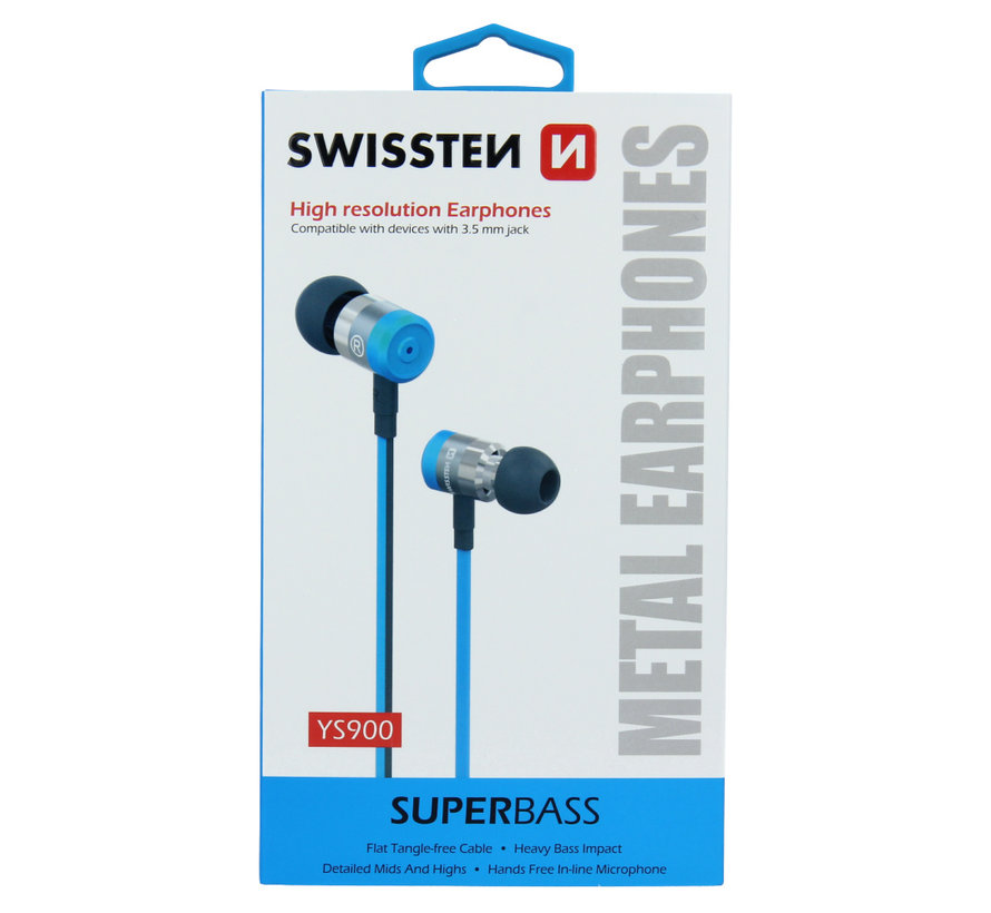 Swissten Headset  Superbass YS900 Blauw