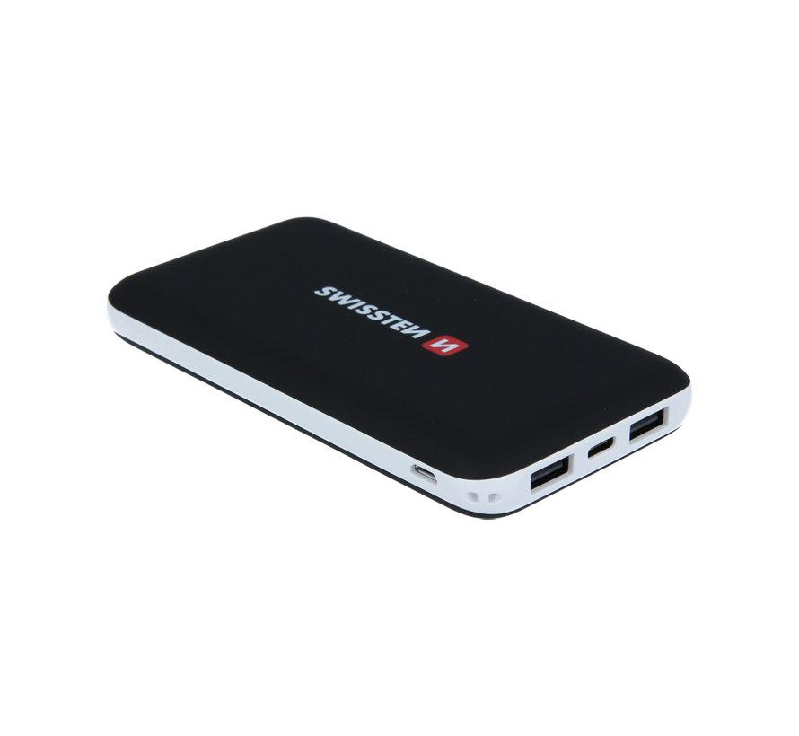Swissten Black Core Slim Powerbank 10.000 mAh USB-C Input