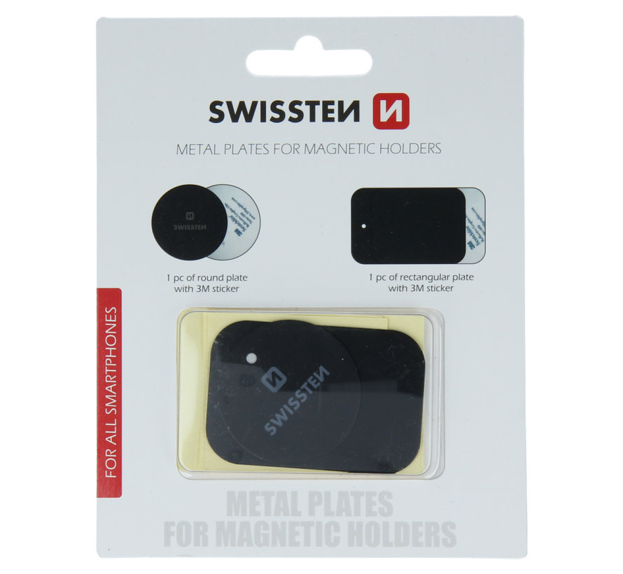 Swissten Metalen Plaatjes voor Telefoonhouder