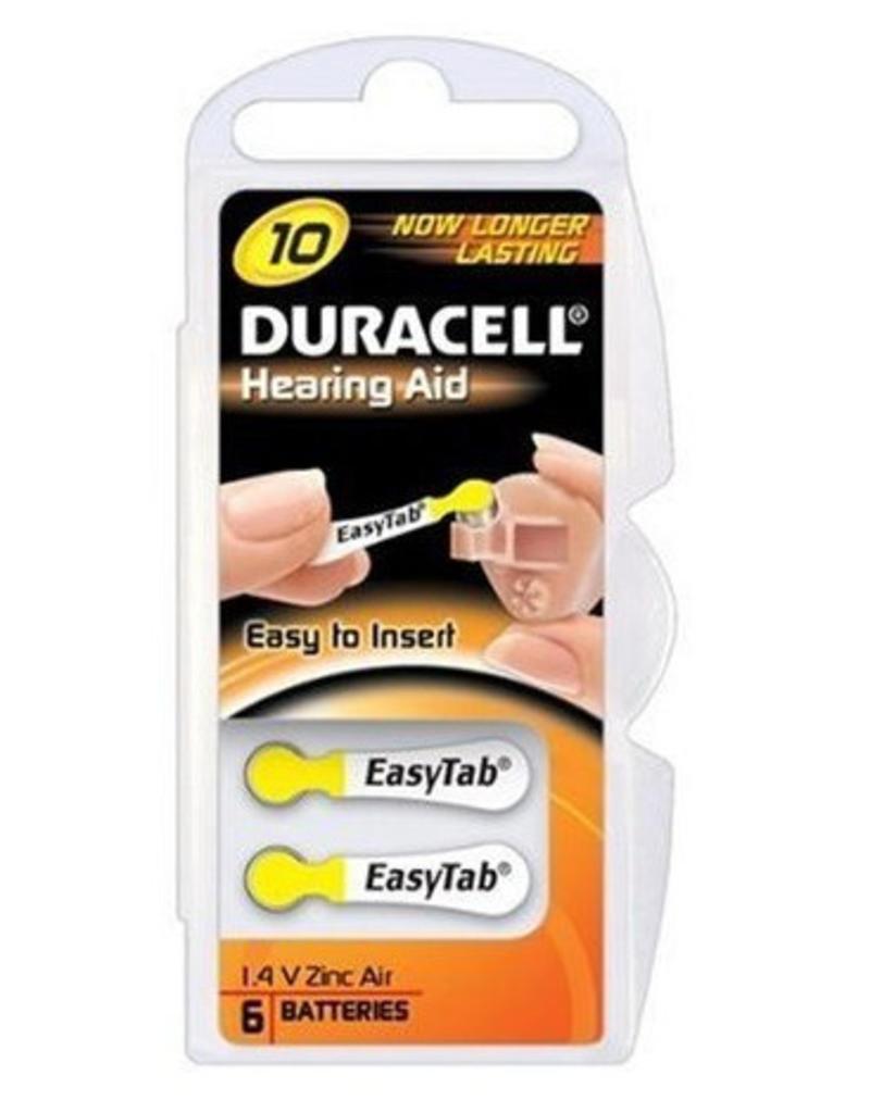 Duracell 60 stuks geel DA10 hoorapparaat batterij