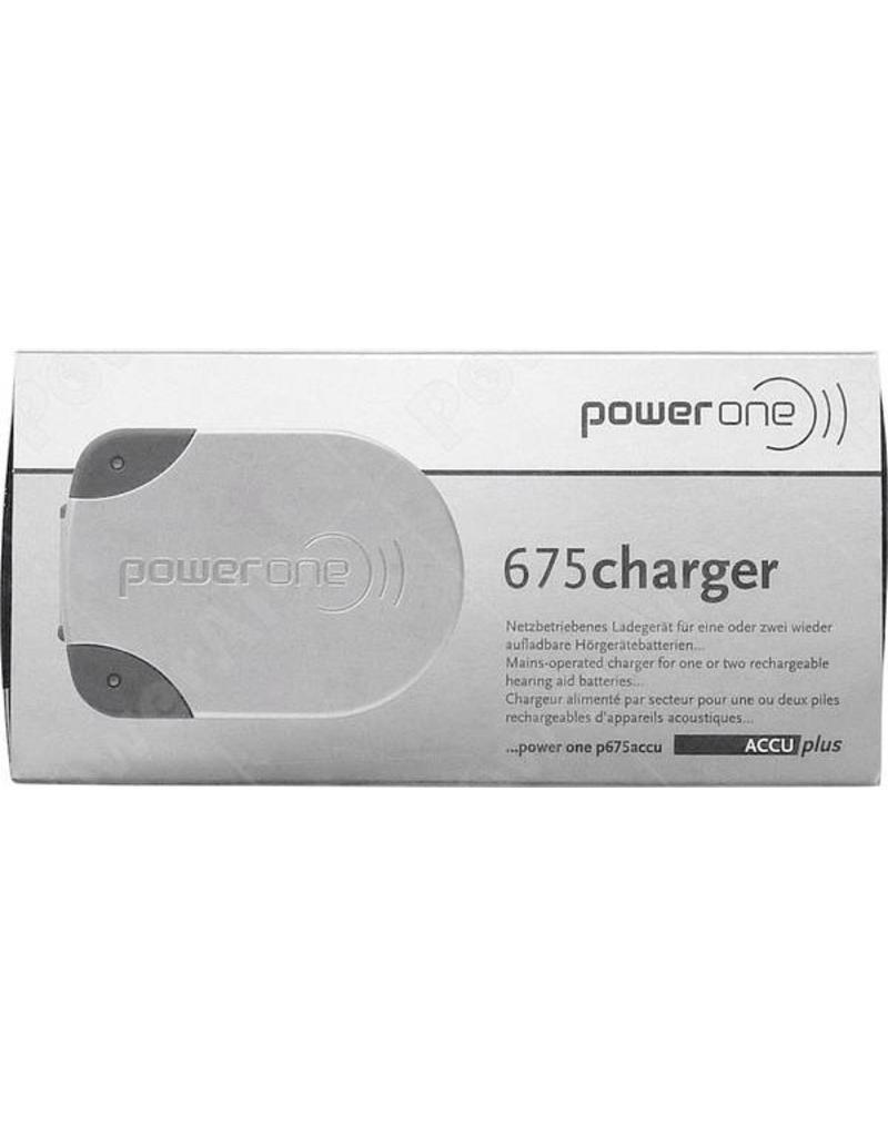 PowerOne Powerone P675 BLAUW hoorbatterij oplader NiMH