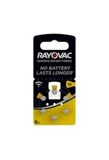 Rayovac P10 GEEL Acoustic Hearing Aid Zinc-Air blister 6