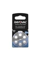 Rayovac P675 BLAUW Acoustic Hearing Aid Zinc-Air blister 6