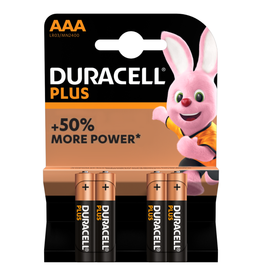 Duracell Batterij Plus Power Duralock AAA blister 4