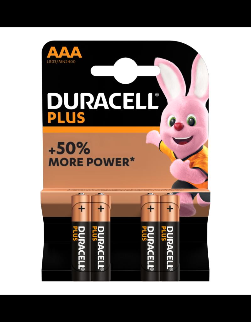 Duracell Batterij Plus Power Duralock AAA/LR03 blister 4