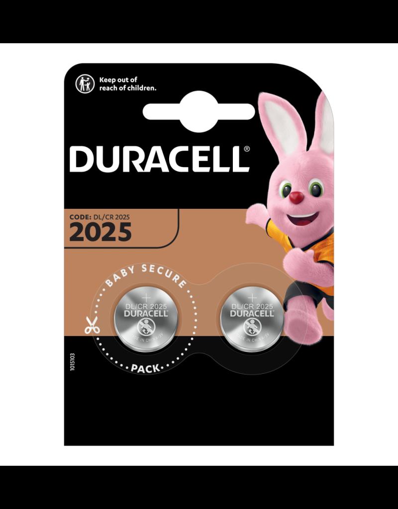 Duracell Knoopcel batterij Lithium CR2025 blister 2