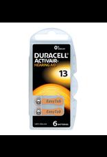 Duracell DA13 oranje hoorapparaat batterij (6 stuks)