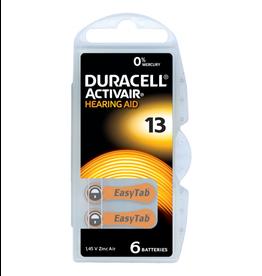 Duracell 6 stuks DA13 oranje hoorapparaat batterij