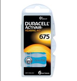 Duracell 6 stuks DA675 blauw hoorapparaat batterij