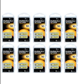 Duracell 60 stuks DA10 hoorapparaat batterij GEEL