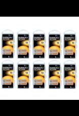 Duracell 60 stuks oranje DA13 hoorapparaat batterij
