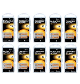 Duracell 60 stuks DA13 hoorapparaat batterij ORANJE