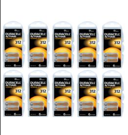 Duracell 60 stuks DA312 hoorapparaat batterij BRUIN