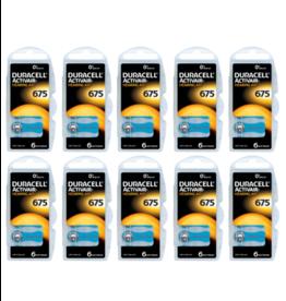 Duracell 60 stuks DA675 hoorapparaat batterij BLAUW