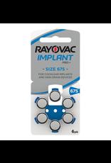 Rayovac Rayovac blauw 675 Cochlear Implant Pro Plus+ hoorbatterijen (6 stuks)
