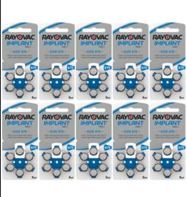Rayovac 60 stuks 675 Cochlear Implant Pro Plus+ hoorbatterijen BLAUW
