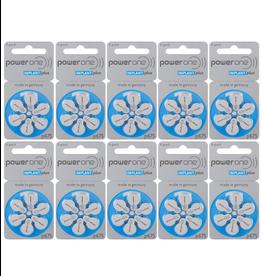 PowerOne 60 stuks P675 Cochlear Implant Plus CI  hoorbatterijen BLAUW