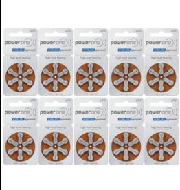 PowerOne 60 stuks P312 hoorapparaat batterij BRUIN