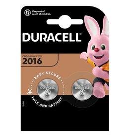 Duracell Knoopcel batterij CR2016 blister 2