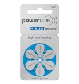 PowerOne 6 stuks P675 blauw hoorapparaat batterij