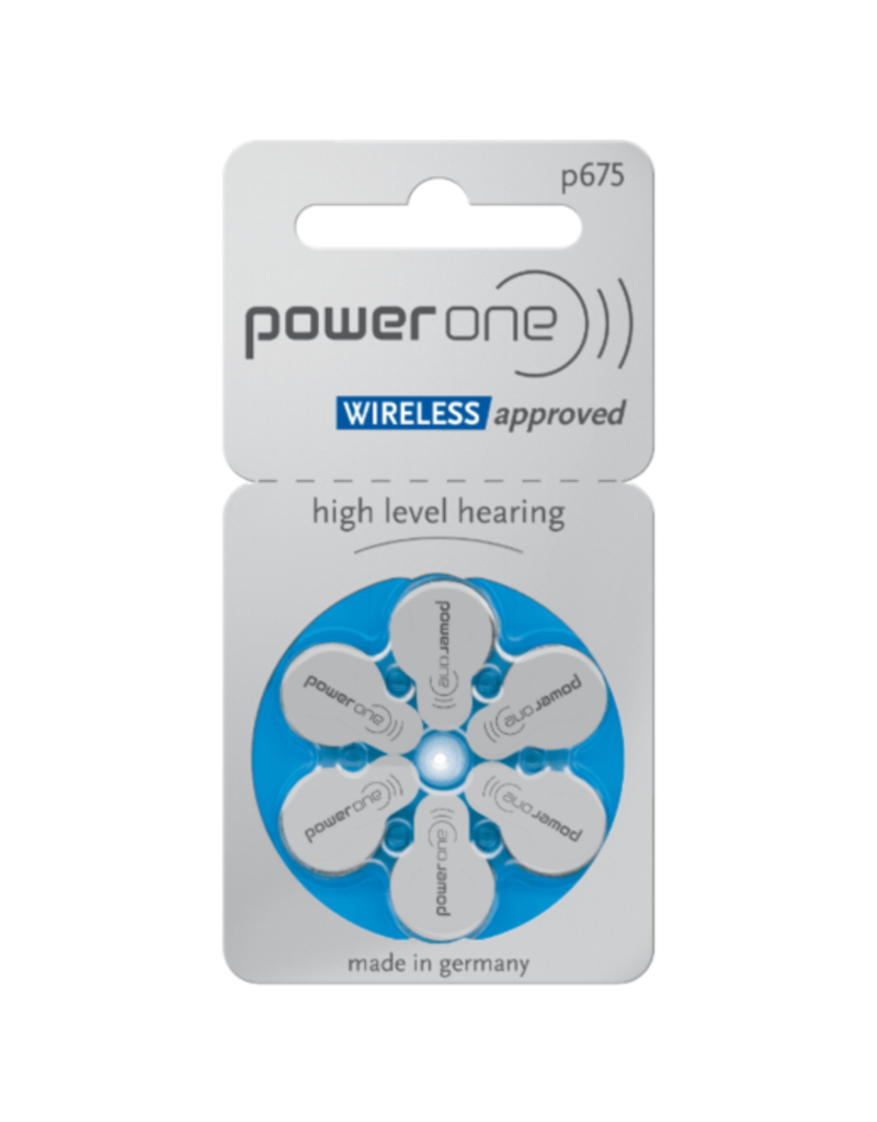 PowerOne 60 stuks blauw P675 hoorapparaat batterij