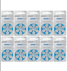 PowerOne 60 stuks P675 hoorapparaat batterij BLAUW