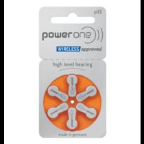 PowerOne oranje P13 hoorapparaat batterij (6 stuks)