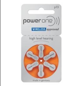 PowerOne 6 stuks P13 oranje hoorapparaat batterij