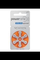 PowerOne 60 stuks oranje P13 hoorapparaat batterij