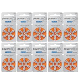 PowerOne 60 stuks P13 hoorapparaat batterij ORANJE