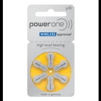 PowerOne geel P10 hoorapparaat batterij (6 stuks)