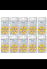 PowerOne 60 stuks geel P10 hoorapparaat batterij