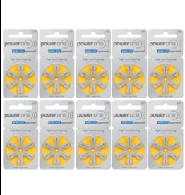 PowerOne 60 stuks P10 hoorapparaat batterij GEEL