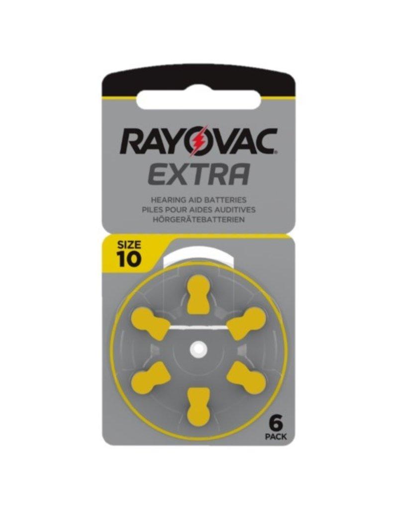 Rayovac 60 stuks geel 10 AU Extra hoorapparaat batterij