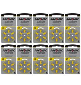 Rayovac 60 stuks 10AU Extra hoorapparaat batterij GEEL